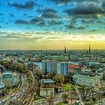 Hamburg sunset view from room 2507 @Radisson Blu Hamburg Dammtor