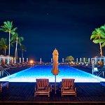 Beach Tree pool at night
