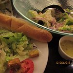 Great salad and bread sticks but no blue cheese dressing