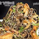 (ESP): Pasta con carne, camarón y verduras  (ENG): Pasta with meat, shrimp and vegetables