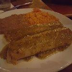 Enchiladas Suizas with verde sauce