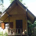 One of the bamboo bungalows