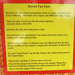 Hawai'i fun facts poster outside the restaurant