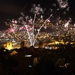 This firework is taken from the hotel window directly. Technical detail, 10 second exposure at I