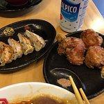 Both gyoza & chicken karage are very good