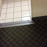 Duct tape on floor