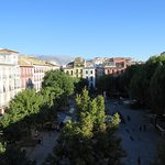 View from the balcony above Plaza Bib-Rambla