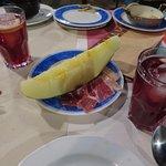 Iberico ham and honey melon