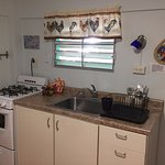 Kitchen is fully equipped with pots and pans, blender, toaster, microwave, coffee pot, etc.