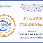 Prix du commerce 2016 La Madeleine