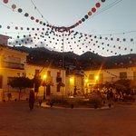 La Nina fountain during Fiesta