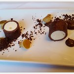 Dark Chocolate and pear artic roll