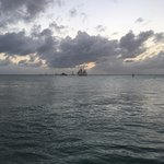 Ships and sunset