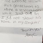 Note that Hotel Employee wrote to explain the issue.