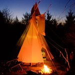 The tipi at night