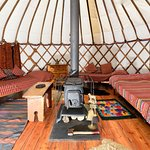 Inside the Bentwood Yurt