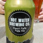 A beer from Hot Water Brewing Co. (next door)