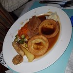 this was the main course placed in front of us classed as a traditional roast dinner