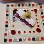 Délice de framboises Framboises Tulameen, mousse au chocolat blanc.
