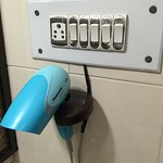 hair dryer with light switches for each light