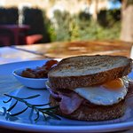 Toasted Egg and Bacon Sandwich