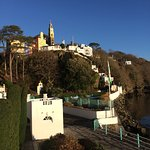 Portmeirion village from hotel