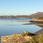 Coastal path from Portmeirion village towards Borth y Gest
