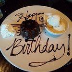 Birthday dessert. : ) Thank you Wild Ginger!