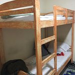 Bunk beds-shared dorm room.