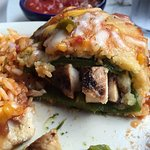 Chilies Rellenos with chicken
