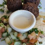 Organic falafel with tahini