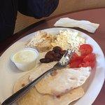 Mediterranean breakfast platter