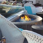 Firepits in most outdoor seating areas