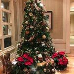 Holiday tree in lobby