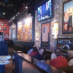 BJ's has Murals and TVs and sports bar atmosphere
