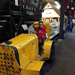 My grandson on the freight tractor