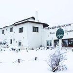 ¡El hostel bajo la nieve!