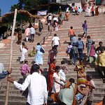 From Narmada bank below