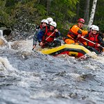 Rafting in the rivers of Swedish Lapland