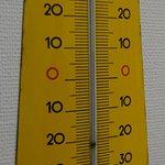 Temperaturanzeige +9[°C] des Werkstattthermometers