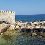 Swimming platform near hotel on Ortigia