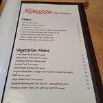 Monsoon Thai FUSION menu 16/17