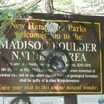 Welcome to Madison Boulder Nature Area - don't be put off by the sign.