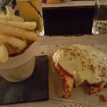 BBQ Chicken Fillet with cheese and hand cut chips