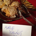 Freshly baked maple walnut scones for guests---as many as you want!