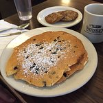 Blueberry pancakes, Banana Nut pancakes and the Railway omelette were excellent decisions.