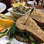 Mock Tuna Sandwich with Tabouli Salad