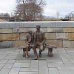 Statue of Pres. Lincoln and Son Tad at Historic Tredegar