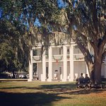 """Enjoying the breezy shade of majestic oak trees during the 80-degree """"winter"""" in Florida."""
