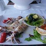 Delicious fresh Grilled Calamari